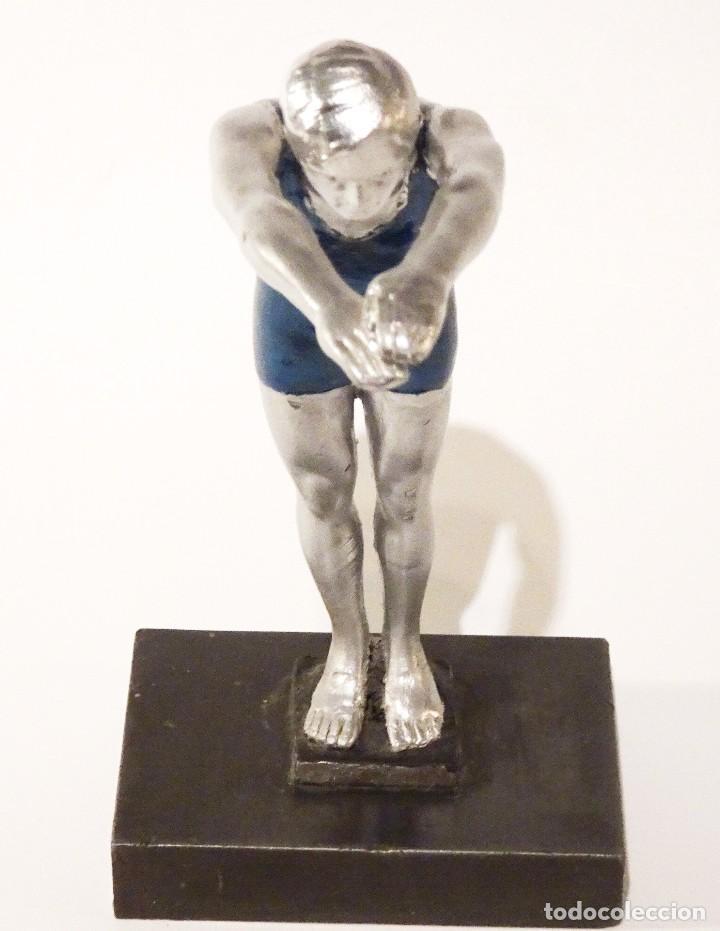 Arte: FIGURA NADADOR ART DECO 1920'S - Foto 6 - 64444931