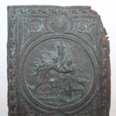 Arte: PLACA RELIEVE DE PELTRE REPUJADO - ESCENA PASTORIL - SIGLO XVIII. Lote 48304074
