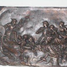 Arte: RELIEVE EN COBRE XIX CON ESCENA VENECIEANA BASADO EN DANTE. Lote 66964018