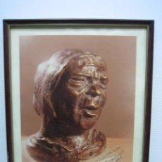 Arte: ICONO DEL FLAMENCO DEDICADO A RAFAEL SALINAS FLAMENCOLOGO DE CÓRDOBA. FIRMADO 1981. M 35X42 CM. Lote 67609045