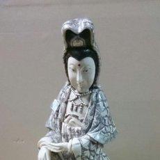 Arte: ESCULTURA DE DIOSA CHINA EN HUESO O MARFIL. Lote 67659645