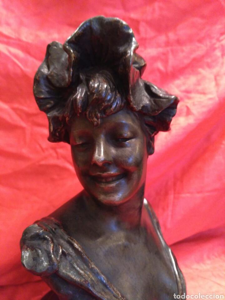 Arte: Busto femenino de calamina de 1890 - Foto 2 - 69048754