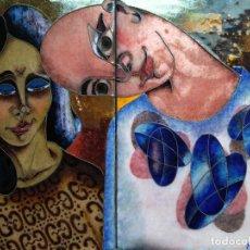 Arte: PRECIOSA OBRA - ESMALTE - FIRMADA E. OLIVE (??). Lote 73509135