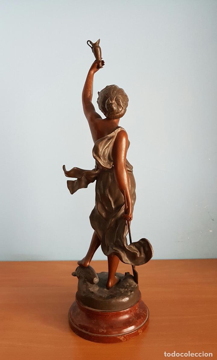 Arte: Gran escultura en calamina con patina de bronce, del escultor Joseph Berthoz, XIX . - Foto 3 - 73525203