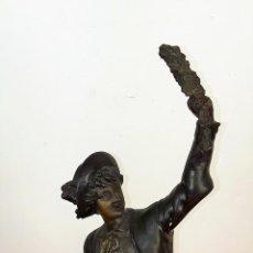 Arte: CABALLERO. CALAMINA. FRANCIA(?) SIGLO XIX-XX.. Lote 76592167