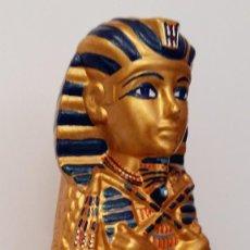 Arte: TUTANKAMON, ESCULTURA DE EGIPTO. PIEZA ÚNICA PINTADA A MANO. Lote 76803751