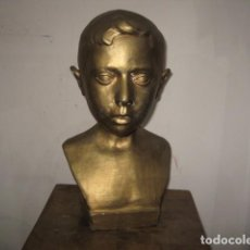 Arte: BUSTO NIÑO EN ESCAYOLA FIRMADO Y FECHADO M A 1949 MEDIDA 37 X 18 X 18 CM.. Lote 78152621