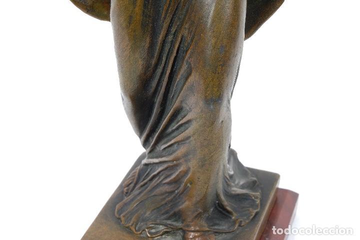 Arte: Dama en calamina patinada en bronce principios siglo XX - Foto 6 - 78352057