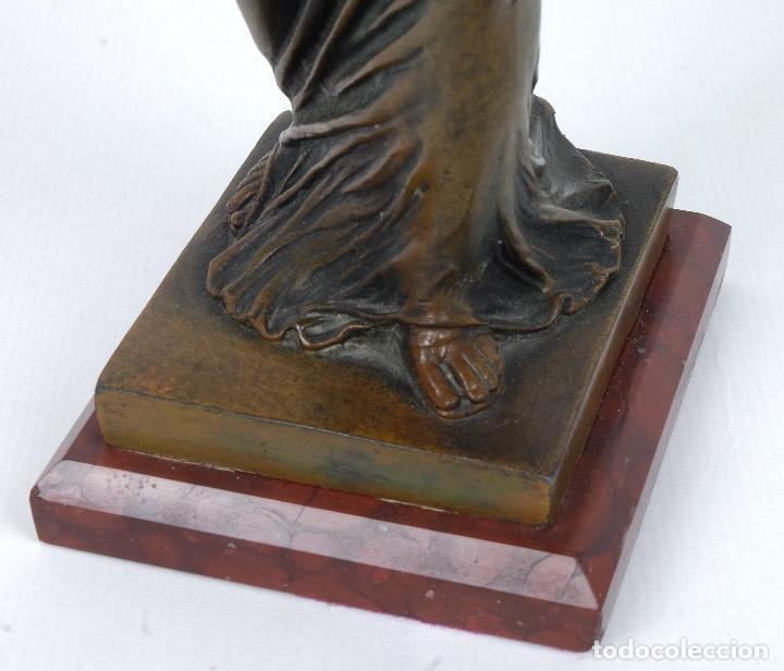 Arte: Dama en calamina patinada en bronce principios siglo XX - Foto 7 - 78352057
