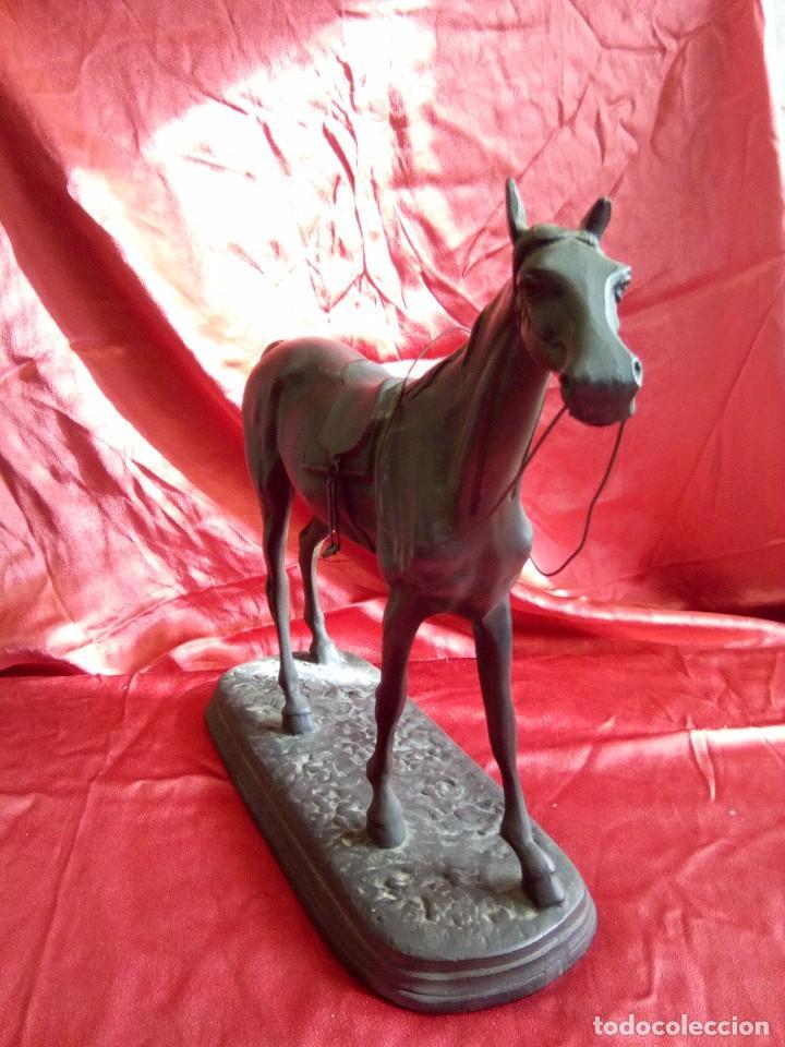 Arte: Figura de caballo en metal. - Foto 3 - 84734872