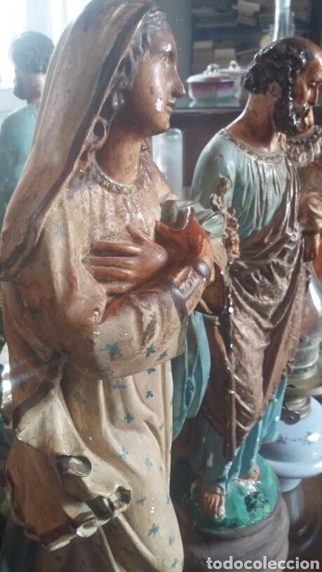 ESCULTURAS SAN JOSÉ Y MARIA MUY ANTIGUAS (Arte - Escultura - Otros Materiales)
