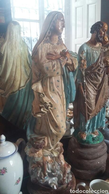 Arte: Esculturas San José y Maria muy antiguas - Foto 2 - 84958903
