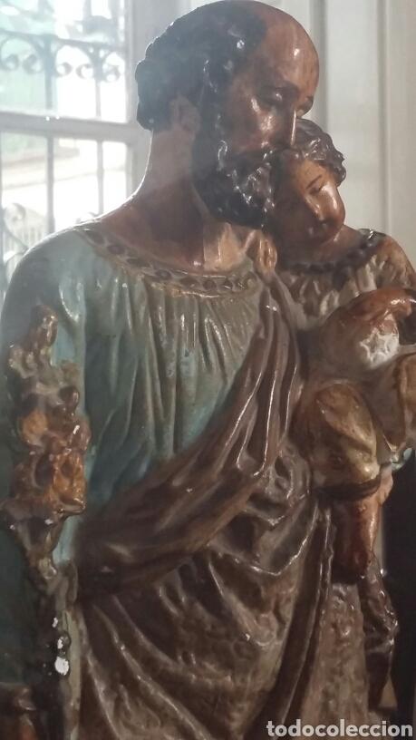 Arte: Esculturas San José y Maria muy antiguas - Foto 3 - 84958903