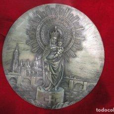 Arte: PLACA CON LA VIRGEN DEL PILAR. Lote 87452504