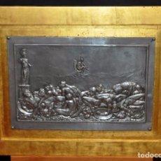 Arte: CHARLES VEECK (FRANCIA, ?? - 1904) PLAFON EN ESTAÑO FIRMADO. ESCENA MITOLOGICA. Lote 89041860