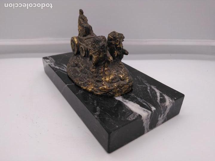 Arte: Escultura antigua de la Cibeles de Madrid, en bronce o símil sobre peana de mármol negro marquina . - Foto 5 - 94164450