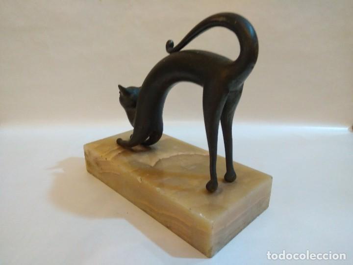 Arte: FIGURA DE GATO - MODERNISTA - ART DECO - Foto 6 - 95414611