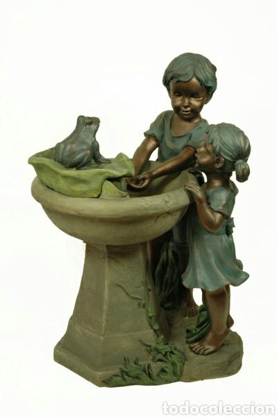 Bellisima fuente ni os con rana para jardin ati comprar for Fuentes de jardin de segunda mano