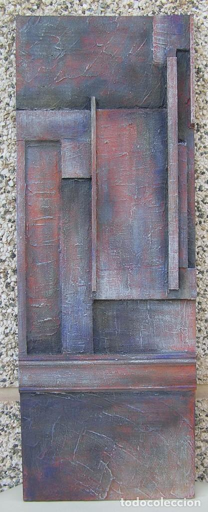 OBRA ABSTRACTA RECIENTE DE JOSE SANZ SALA. ( 105 X 38 CTMS )( SOLO RECOGIDA ) (Arte - Escultura - Otros Materiales)