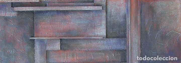 Arte: OBRA ABSTRACTA RECIENTE DE JOSE SANZ SALA. ( 105 x 38 ctms )( SOLO RECOGIDA ) - Foto 2 - 98152571