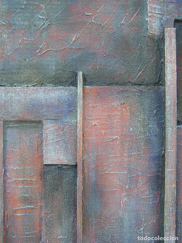 Arte: OBRA ABSTRACTA RECIENTE DE JOSE SANZ SALA. ( 105 x 38 ctms )( SOLO RECOGIDA ) - Foto 3 - 98152571