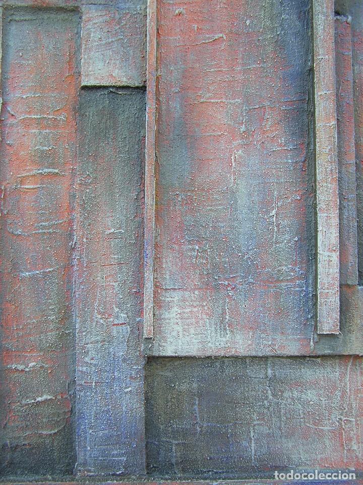 Arte: OBRA ABSTRACTA RECIENTE DE JOSE SANZ SALA. ( 105 x 38 ctms )( SOLO RECOGIDA ) - Foto 4 - 98152571
