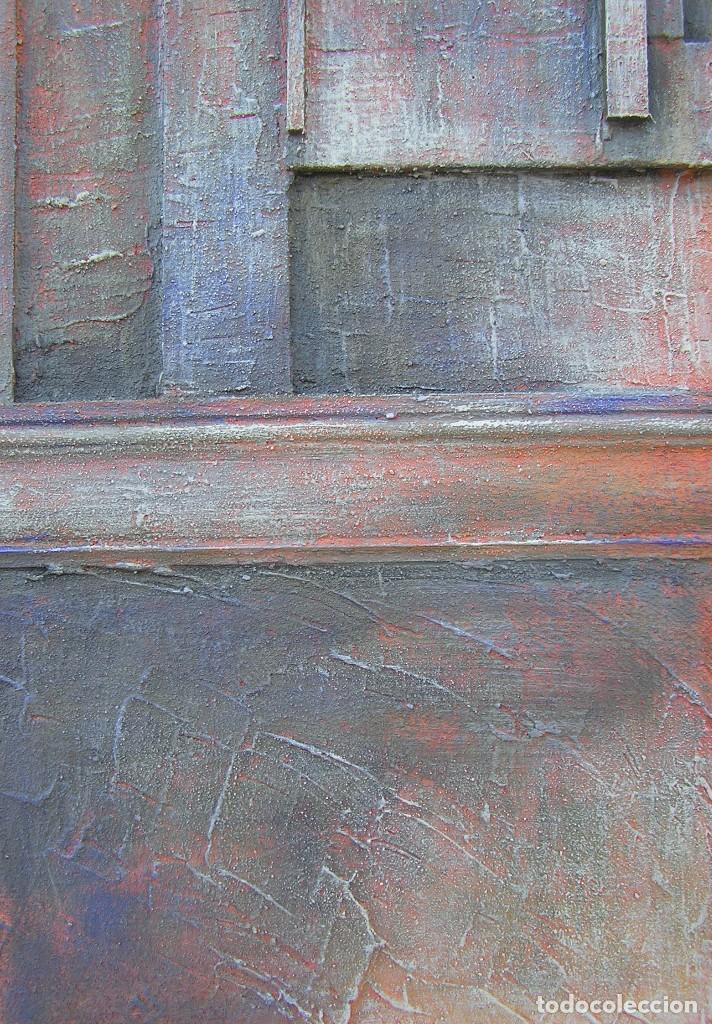 Arte: OBRA ABSTRACTA RECIENTE DE JOSE SANZ SALA. ( 105 x 38 ctms )( SOLO RECOGIDA ) - Foto 5 - 98152571