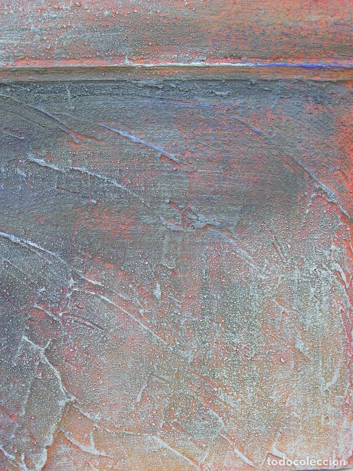 Arte: OBRA ABSTRACTA RECIENTE DE JOSE SANZ SALA. ( 105 x 38 ctms )( SOLO RECOGIDA ) - Foto 6 - 98152571
