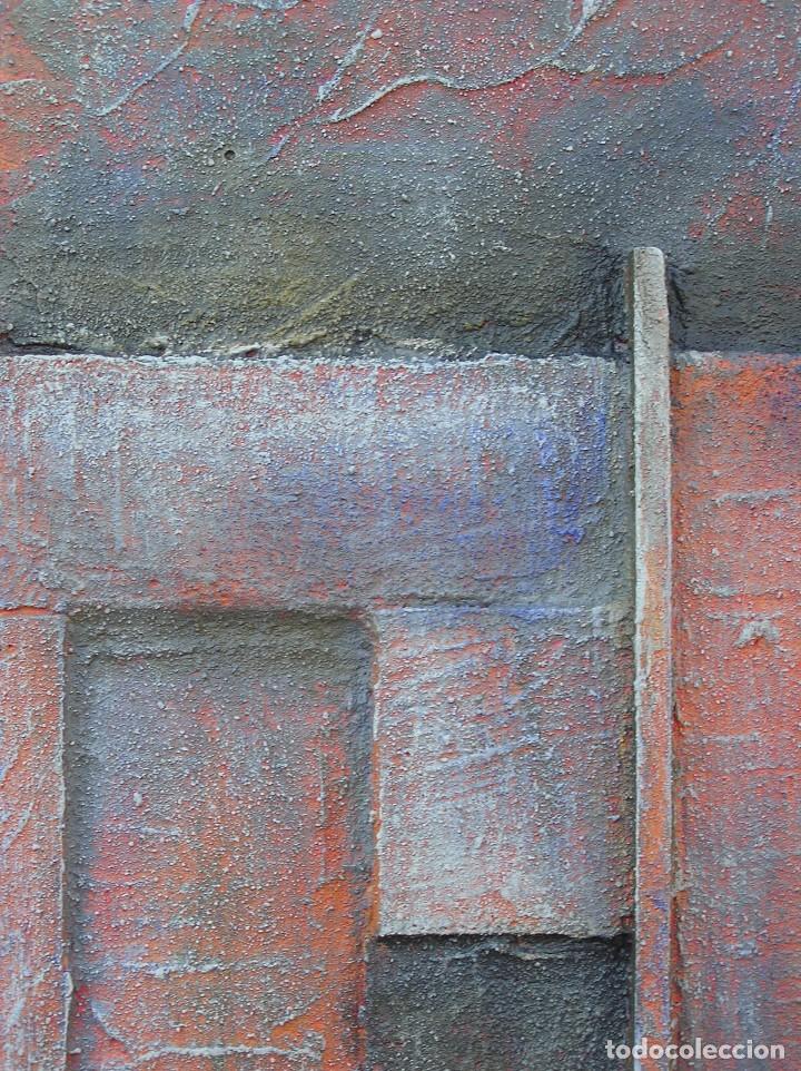 Arte: OBRA ABSTRACTA RECIENTE DE JOSE SANZ SALA. ( 105 x 38 ctms )( SOLO RECOGIDA ) - Foto 7 - 98152571