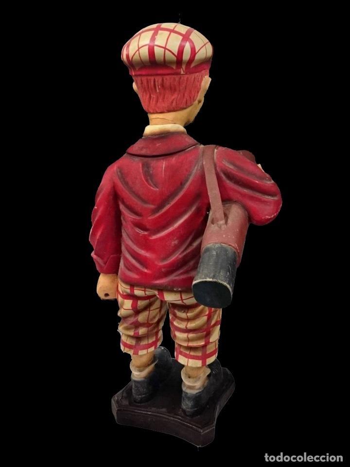 Arte: antiguo jugador de golf, en cartón piedra, precioso.97 cm - Foto 2 - 99293967