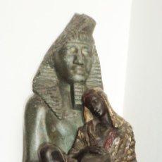 Arte: MAGNIFICA ESCULTURA EGIPCIA JOVEN CON MANDOLINA SOBRE FARAON AUTOR LEROUX ALTO 67,5 CM ENVIO GRATIS. Lote 26515071