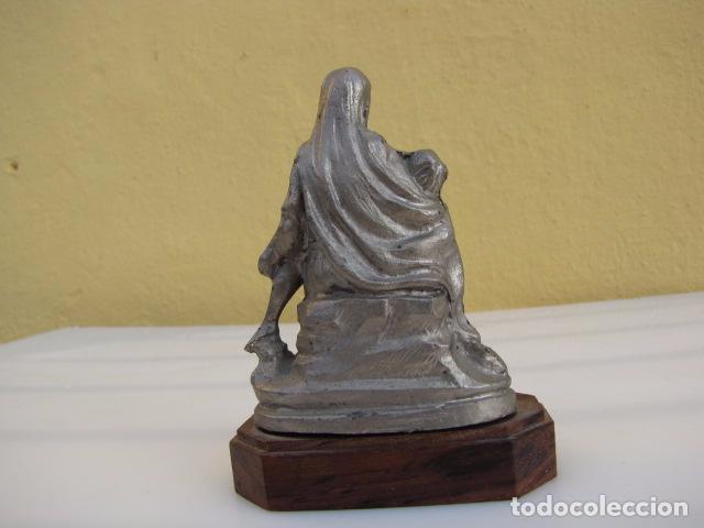 Arte: Piedad. Peltre cincelado a mano. Hecho en Italia. - Foto 3 - 103465875