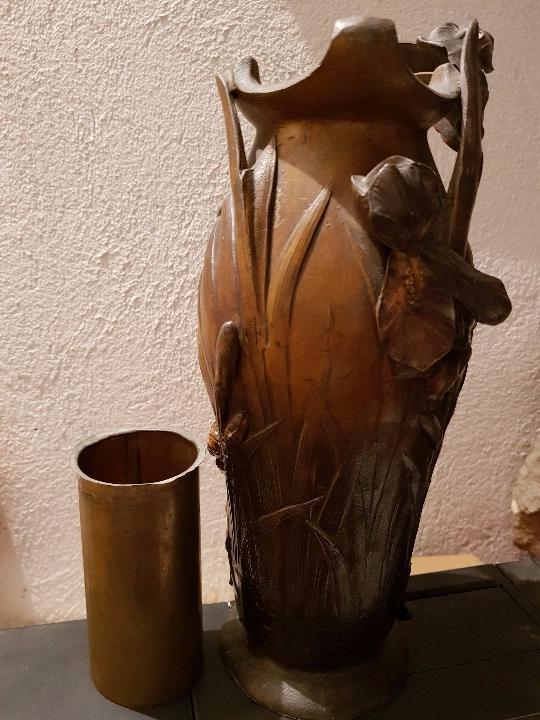 Arte: Jarrón florero modernista-art nouveau. Firmado Elsie Ward Hering - Foto 6 - 15380350
