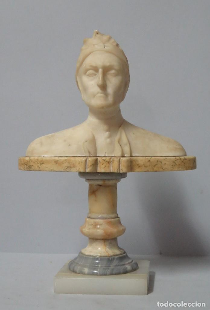 BUSTO DE DANTE ALIGHIERI. MARMOL. SIGLO XIX. GRAN CALIDAD (Arte - Escultura - Otros Materiales)