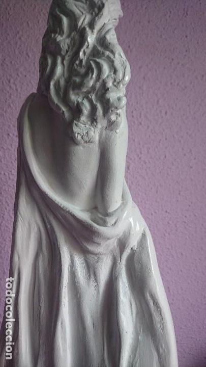 Arte: GRAN ESCULTURA BELLA MUJER YESO - Foto 4 - 108394963