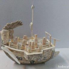 Arte: ESCULTURA DE BARCO CHINO EN HUESO O MARFIL. Lote 109387019