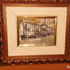 Arte: CUADRO REALIZADO EN PLATA BRUÑIDA POR REDONDO Y BURGES. Lote 112164947