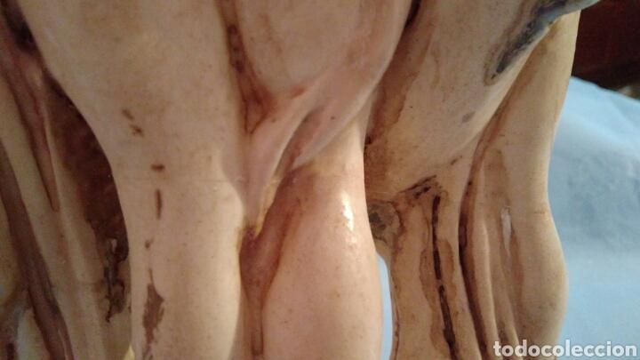 Arte: IMPRESIONANTE ESCULTURA ANTIGUA DE LAS TRES GRACIAS, EN ESCAYOLA POLICROMADA, ÚNICA, VER - Foto 14 - 113537850