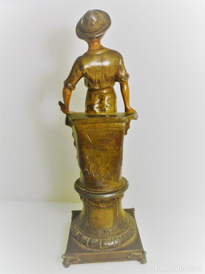 Arte: ESCULTURA ART NOUVEAU DE CALAMINA DEL FRANCES ALPHONSE RUCHO (hacia 1920) FIRMADA - Foto 2 - 116410519