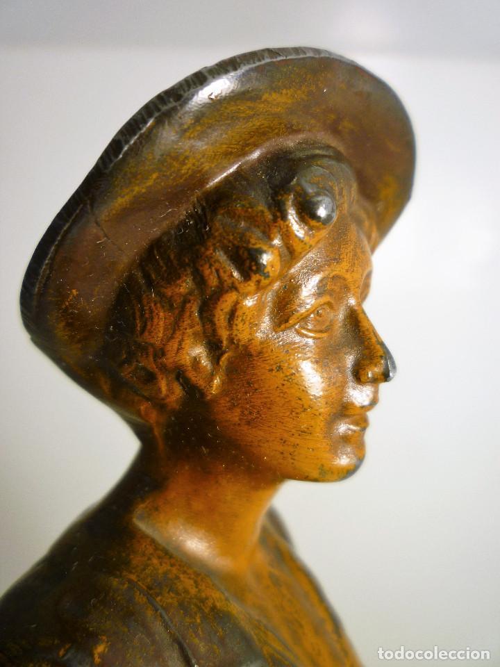 Arte: ESCULTURA ART NOUVEAU DE CALAMINA DEL FRANCES ALPHONSE RUCHO (hacia 1920) FIRMADA - Foto 5 - 116410519