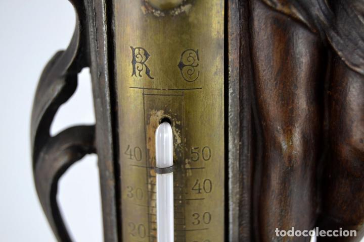 Arte: Preciosa Antigua Figura de Mujer / Hada en Calamina con Tintero y Termometro / 36cm de altura - Foto 8 - 117855543
