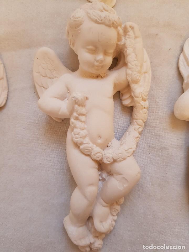 Arte: Serie de seis angelitos de escayola - Foto 3 - 119485555
