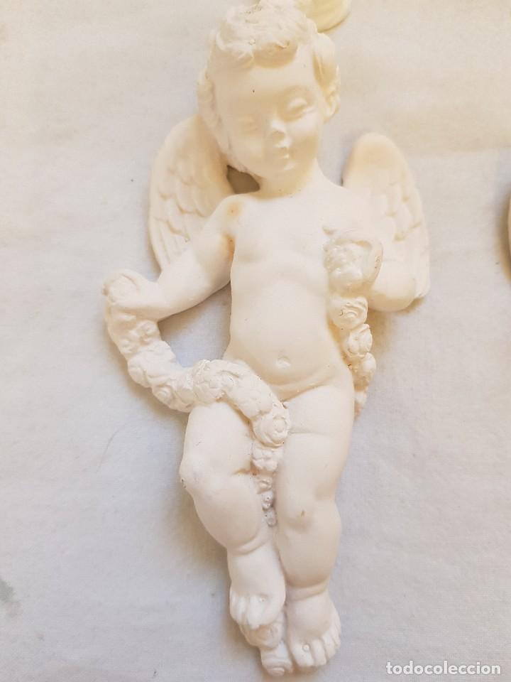 Arte: Serie de seis angelitos de escayola - Foto 4 - 119485555