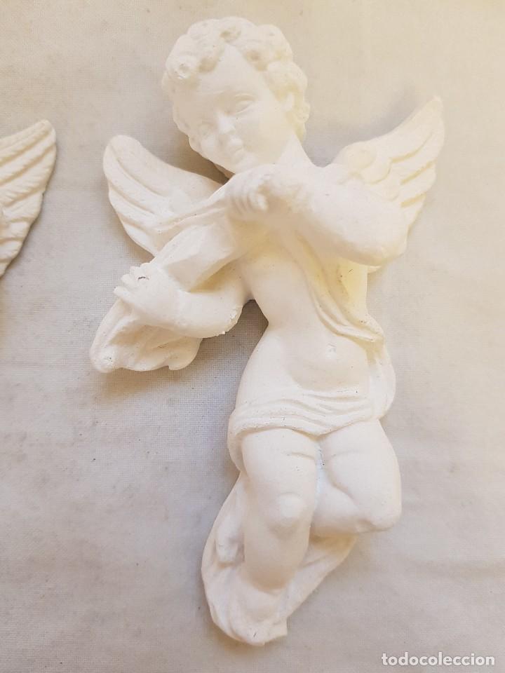 Arte: Serie de seis angelitos de escayola - Foto 7 - 119485555