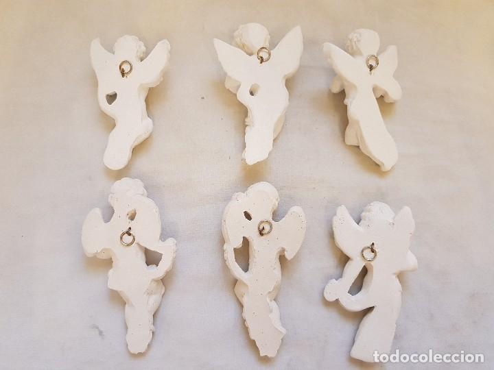 Arte: Serie de seis angelitos de escayola - Foto 8 - 119485555