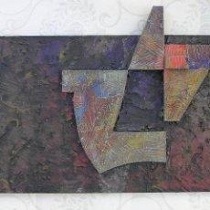 Arte: ESCULTURA RECIENTE DE JOSE SANZ SALA . REALIZADA CON MATERIALES DE RECICLAJE ( SOLO RECOGIDA ). Lote 119658315
