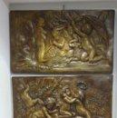 Arte: CONJUNTO DE PANELES DE LAS CUATRO ESTACIONES. YESO PATINADO EN MADERA. PRIMERA MITAD SIGLO XX. Lote 121987687