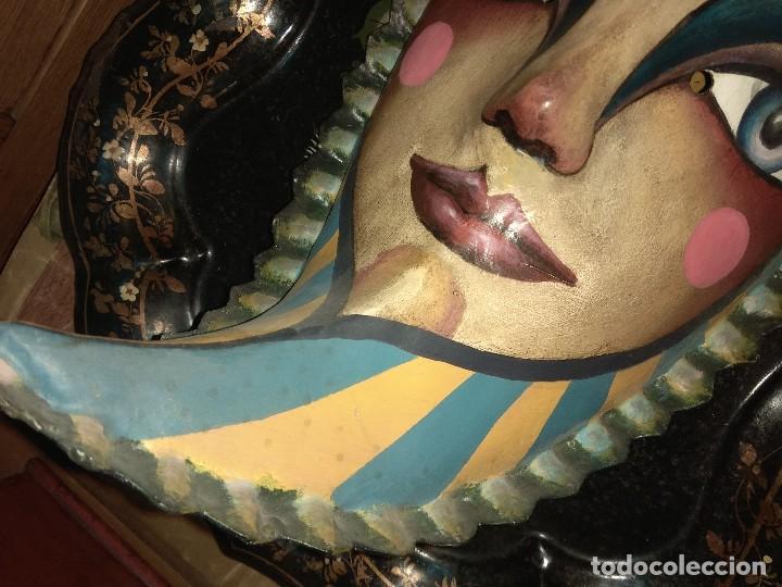 Arte: Antigua Mascara Luna - Papel Maché - Cartón - Jesús Soto - Madrid - Foto 3 - 127130211