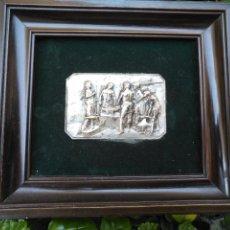 Arte: LA FRAGUA DE VULCANO IMAGEN DEL CUADRO DE DIEGO VELÁZQUEZ EN RELIEVE METAL CON BAÑO DE PLATA. Lote 127580519