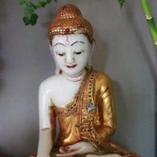 Arte: BUDA DE MARMOL DE MYANMAR . Lote 130994276